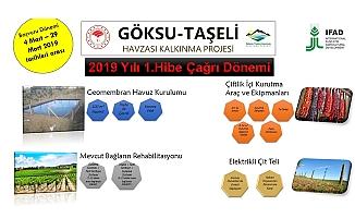 Göksu Taşeli Havzası Kalkınma Projesi  2019 Yılı 1.Hibe Programı Başlamıştır
