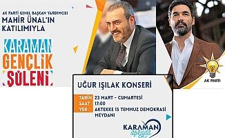 Karaman'da AK Parti Gençlik Şöleni