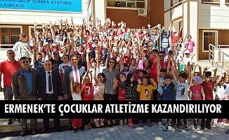 ERMENEK'TE ÇOCUKLAR ATLETİZME KAZANDIRILIYOR