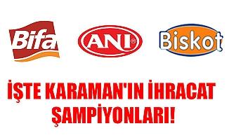İŞTE KARAMAN'IN İHRACAT ŞAMPİYONLARI!