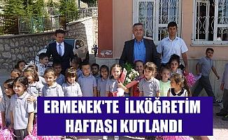 ERMENEK'TE  İLKÖĞRETİM HAFTASI KUTLANDI