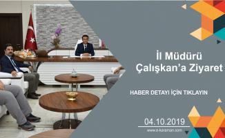 İlim Yayma Cemiyeti, Muhtarlar Derneği ve Türk Eğitim Sen'den İl Müdürü Çalışkan'a Ziyaret