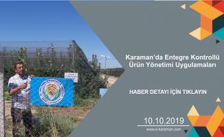Karaman'da Entegre Kontrollü Ürün Yönetimi Uygulamaları