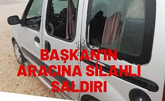 BELEDİYE BAŞKANIN ARACINA SALDIRI