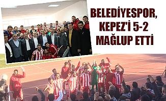 BELEDİYESPOR, KEPEZ'İ 5-2 MAĞLUP ETTİ