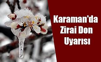Karaman'da Zirai Don Uyarısı