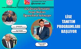 LİSE TANITIM PROGRAMLARI BAŞLIYOR