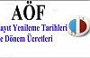 AÖF Kayıt Yenileme Tarihleri 2014, AÖF üniversitesi Kayıt Yenileme, açıköğretim Fakültesi 2014