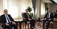 İl Milli Eğitim Müdürleri Vali Tapsız'ı Ziyaret Etti