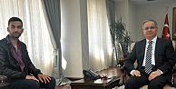 Karaman Valisi Tapsız, Gazi Uğur Yılmaz'ı  kabul etti