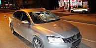 Karaman'da koruma ekibinin çarptığı kişi yaralandı