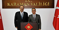 Vali Canbolat,  Karaman Valisi Tapsız'ı Ziyaret Etti