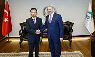 Büyükelçi, Çinli iş adamı heyeti ile Mustafa Çelik'i ziyaret etti