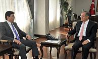 Çalışma ve Sosyal Güvenlik Bakanlığı Heyeti Vali Tapsız'ı Ziyaret Etti