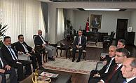 Karaman'da İl Müdürleri Vali Tapsız'ı Ziyaret Etti