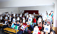 Kayseri'de öğrencilere toplu taşıma anlatılıyor