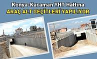 Konya'da 4 alt geçit yapılıyor