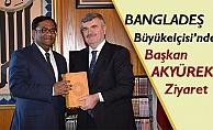 Başkan Tahir Akyürek ile bir süre görüştü