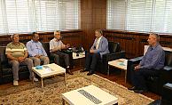 Büyükşehir Belediye Başkanı Mustafa Çelik'i ziyaret etti