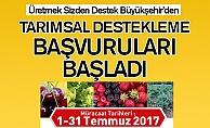 Konya'da tarımsal destek başvuruları başladı