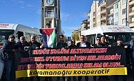 KARAMAN'DA MİNİBÜSCÜLERDEN KUDÜS'E DESTEK KONVOYU