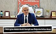 İl Milli Eğitim Müdürü Mevlüt Kuntoğlu'nun İlköğretim Haftası Mesajı