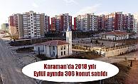 Karaman'da 2018 yılı Eylül ayında 306 konut satıldı