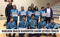 KARAMAN ANALİG BADMİNTON TAKIMI ÇEYREK FİNALDE