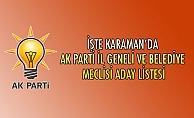 İŞTE KARAMAN#039;DA AK PARTİ İL GENELİ VE BELEDİYE MECLİSİ ADAY LİSTESİ