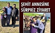 ŞEHİT ANNESİNE SÜRPRİZ ZİYARET
