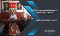 Ali Güler'den Abidin Çağlayan'a hayırlı olsun ziyareti