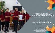 TSK'DEN ALPARSLAN ORTAOKULUNA TEŞEKKÜR