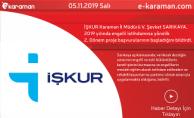 İŞKUR Karaman İl Müdürü V. Şevket SARIKAYA, 2019 yılında engelli istihdamına yönelik 2. Dönem proje başvurularının başladığını bildirdi.