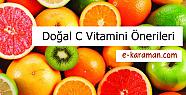 Doğal C Vitamini Önerileri nelerdir?