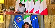 İtalya  Avrupa Birliği bayrağını kaldırdı