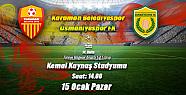 Karaman Belediye Spor'u önemli bir maç bekliyor