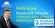 Karaman' da Kent Konseyi Olağan Genel Kurulu Yapılacak