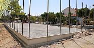 Karaman'da semt saha yapımları devam ediyor