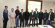 KMÜ Uluslararası Öğrenci Topluluğu'ndan Başkan Çalışkan'a Ziyaret