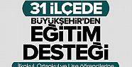 Konya Büyükşehir' den eğitim yardımı desteği, 2016 2017