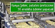 Konya Şeker, patates üreticisine 30 aralıkta ödeme yapacak