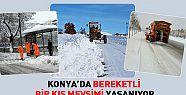 Konya'da Bereketli Bir Kış Mevsimi Geçiyor