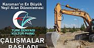 Türk Dünyası Kültür Parkı Çalışmaları Başladı
