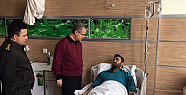 Vali Tapsız, El-Bab Bölgesinde Yaralanan Uğur Yılmaz'ı Ziyaret Etti
