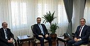 YÖK heyeti Karaman Valisi Tapsız'ı Ziyaret Etti