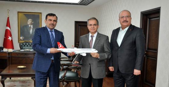THY Bölge Müdüründen Karaman Valisi Tapsız'a Ziyaret