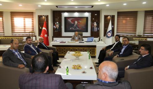 TÜMSİAD yönetim kurulu üyeleri, Başkan Çalışkan'ı Ziyaret etti