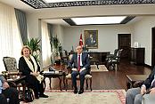 Karaman'da Vali Tapsız, süpriz konukları ağırladı