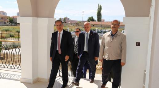 Vali TAPSIZ  ve Başkan ÇALIŞKAN Larende Taziye Evini Gezdi